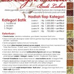 Lomba Desain Batik 2013