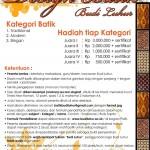 Lomba Desain Batik Budi Luhur
