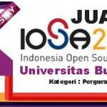 UBL meraih Juara 1 Indonesia Open Source Award 2013