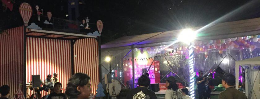 Suasana booth ComFest UBL di Festival Go-Jek