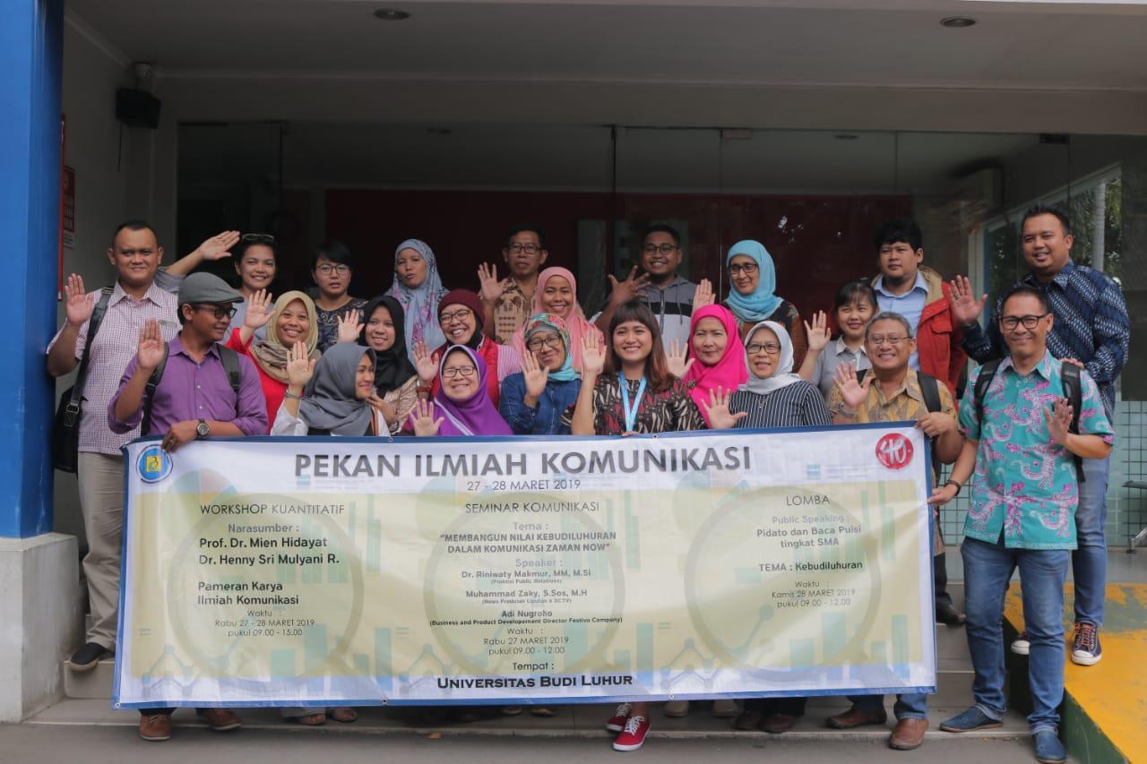 Fakultas Ilmu Komunikasi (FIKOM) Universitas Budi Luhur  Mengadakan Pekan Ilmiah Komunikasi