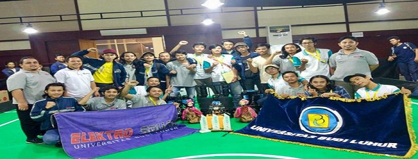 Mahasiswa Fakultas Teknik Universitas Budi Luhur Raih Juara di KRI 2019 Regional II Bandung