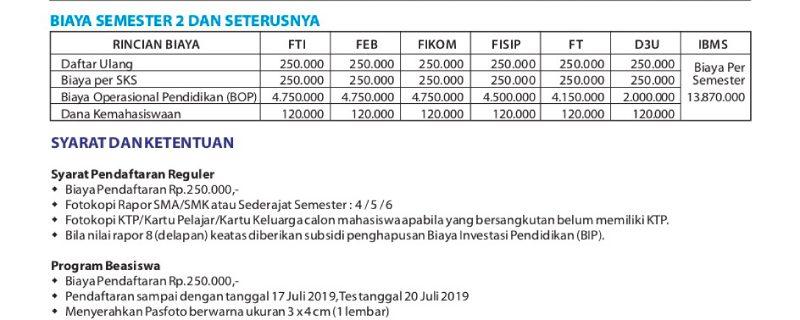 Rincian Biaya Pendaftaran Masuk Universitas Budi Luhur2019/2020