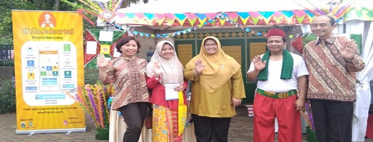 Budi Luhur Pamerkan Aplikasi 'Jak Save dan Hello Jakarta' di Monas
