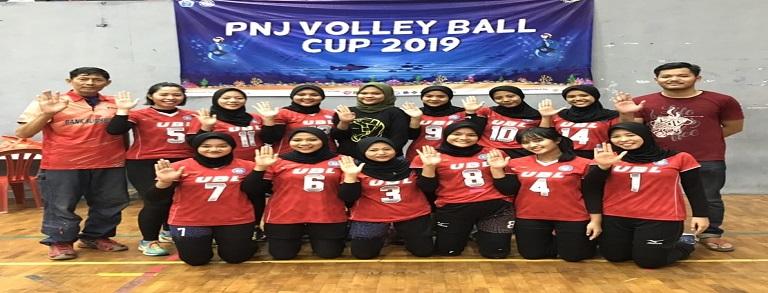 Selamat! Tim Bola Voli Putri Budi Luhur Juara 1 di PNJ Volley Ball Cup 2019