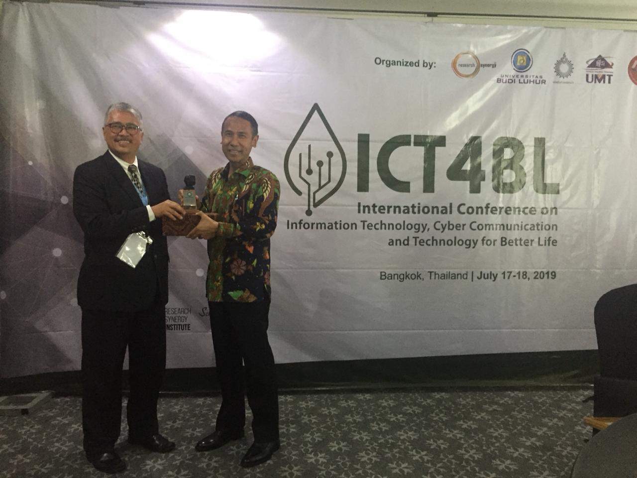 International Conference on IT, Communication and Technology for Better Life oleh Universitas Budi Luhur di Bangkok, Thailand