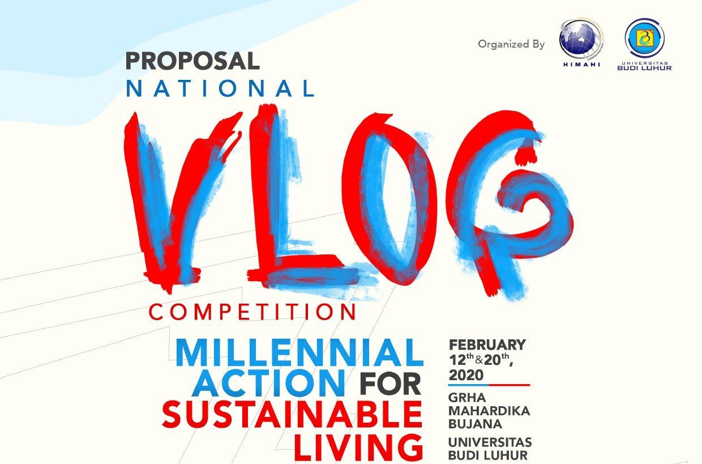 Mahasiswas Hubungan Internasional  Melaksanakan National Vlog Competition Millenial Action For Sustainable Living