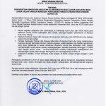 Surat Edaran Rektor : Penghentian Sementara Kegiatan di Kampus