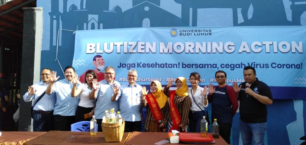Blutizen Morning Action Membagikan Masker dan Jamu Gratis Dalam Menghadapi Virus Corona