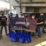 Universitas Budi Luhur dan Jurnalis Peduli Berbagi Sembako Untuk Yatim Piatu dan Kaum Dhuafa