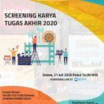 Karya Tugas Akhir Mahasiswa FIKOM Universitas Budi Luhur di Tengah Pandemi Covid-19
