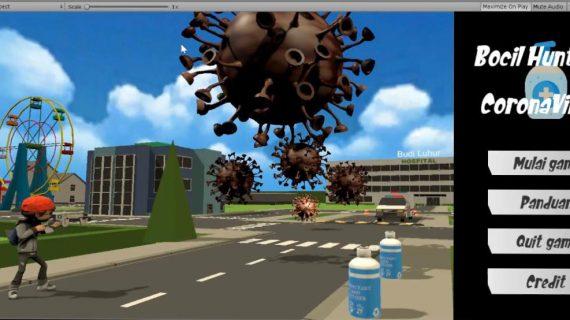 Lawan Covid-19, Mahasiswa Fakultas Teknologi Informasi UBL Menciptakan Karya GimBocil Hunter