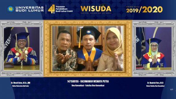 Universitas Budi Luhur Gelar Wisuda Online Periode Gasal 2019/2020 Untuk Pertama kalinya