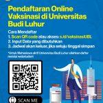 Pendaftaran Online Vaksinasi di Universitas Budi Luhur