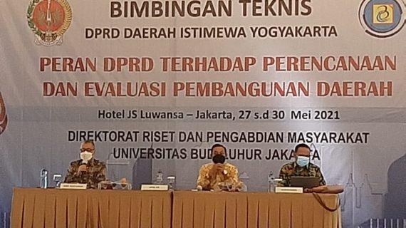 Direktorat Riset dan Pengabdian Pada Masyarakat(DRPM) Menyelenggarakan Bimbingan Teknis Bagi Anggota DPRD
