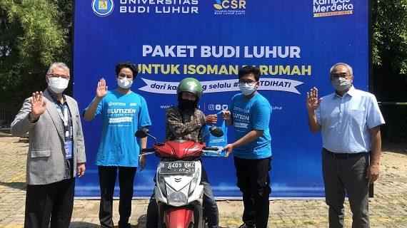 Universitas Budi Luhur Bagikan Paket Isoman Gratis Selama Masa PPKM