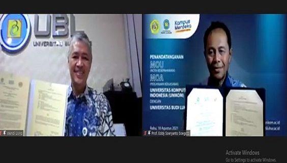 Universitas Budi Luhur dan Universitas Komputer Indonesia Kerja Sama Riset dan Pertukaran Mahasiswa-Dosen