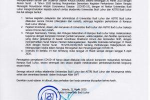 Surat Edaran Rektor-21032020